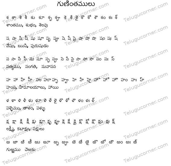 Telugu Letters
